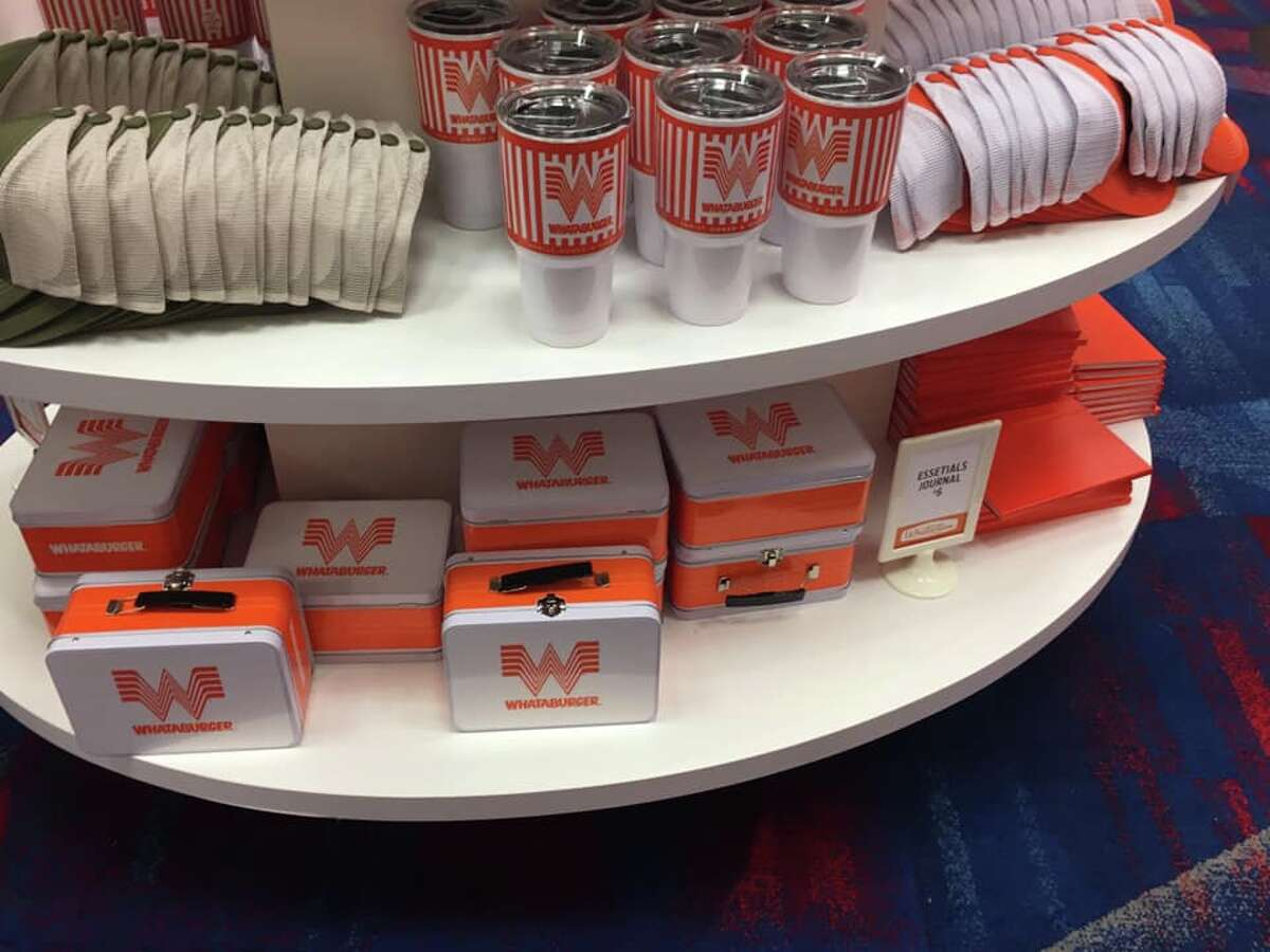 More than 40 new Whataburger products are on sale at the Whataburger Family Convention in Houston. The event is private, but the exclusive merchandise will be made available on the online store throughout the year.