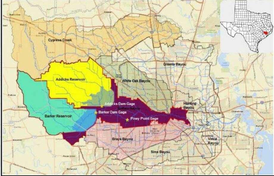 Corps Advances Buffalo Bayou Flood Risk Study Houston Chronicle - Us-corps-of-engineers-maps