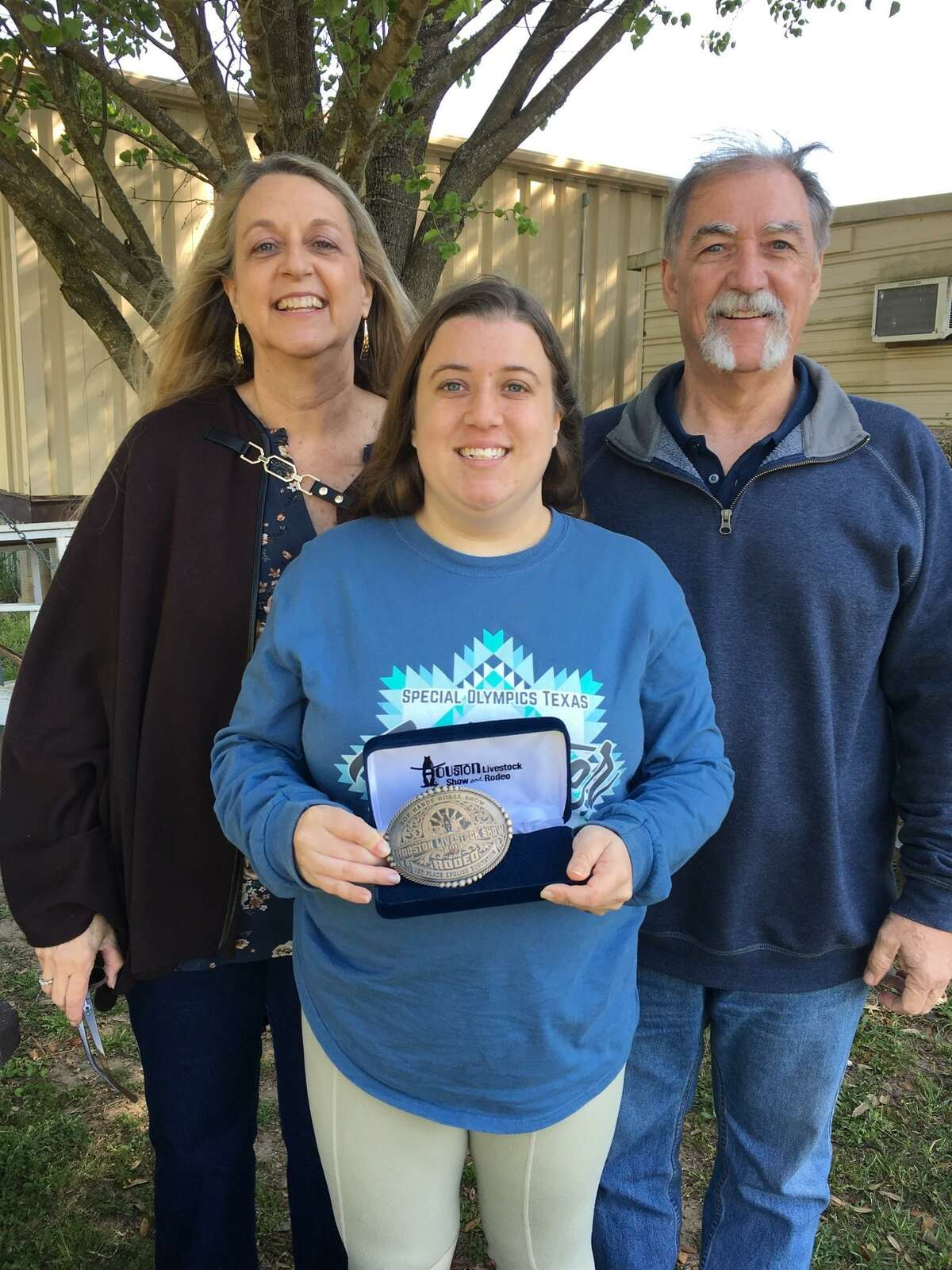 Shelby Day won a belt buckle at this year's Top Hands Horse Show offered by the Houston Livestock Show & Rodeo forfirst place in English equitation.She won trophies for fifth place in trail riding and sixth place in showmanship at halter. Her parents are Kari and Steve Day.