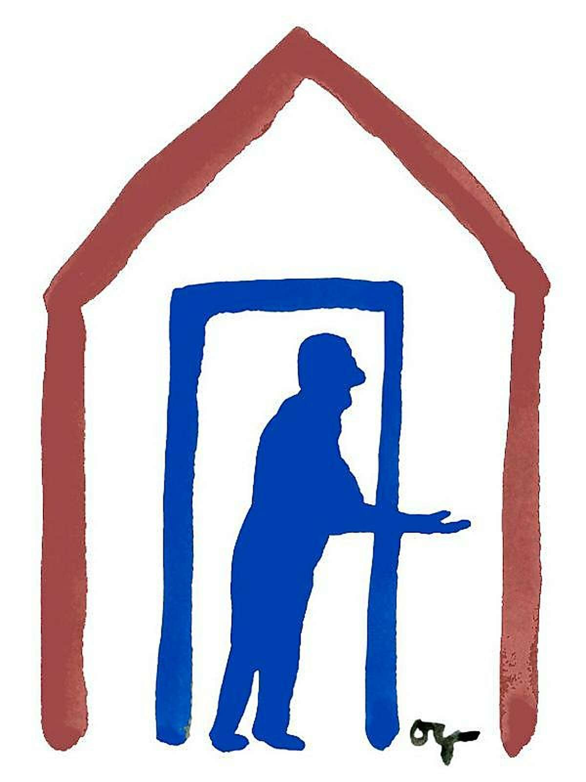 Illustration for piece on aging and housing