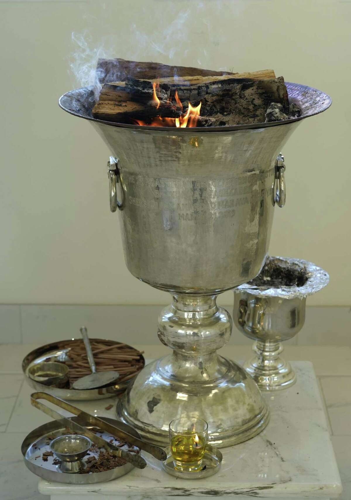 Fire is Zoroastrians' most important symbol.