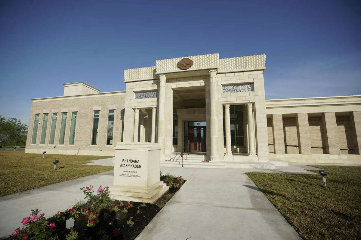 The new temple at 8787 Airport Road.