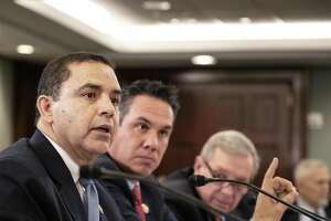 Representative Henry Cuellar, a Democrat from Texas, speaks during a House-Senate committee meeting on border security in Washington D.C., U.S., on Wednesday, Jan. 30, 2019. The meeting produced no breakthroughs but both sides hinted that they may be able to agree on some form of fencing as part of a larger package of border improvements. Photographer: Alex Wroblewski/Bloomberg.