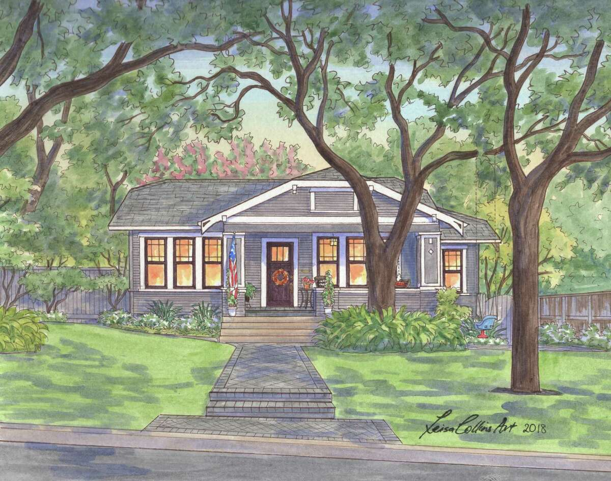 215 Albany St. in Alamo Heights as depicted by Leisa Collins
