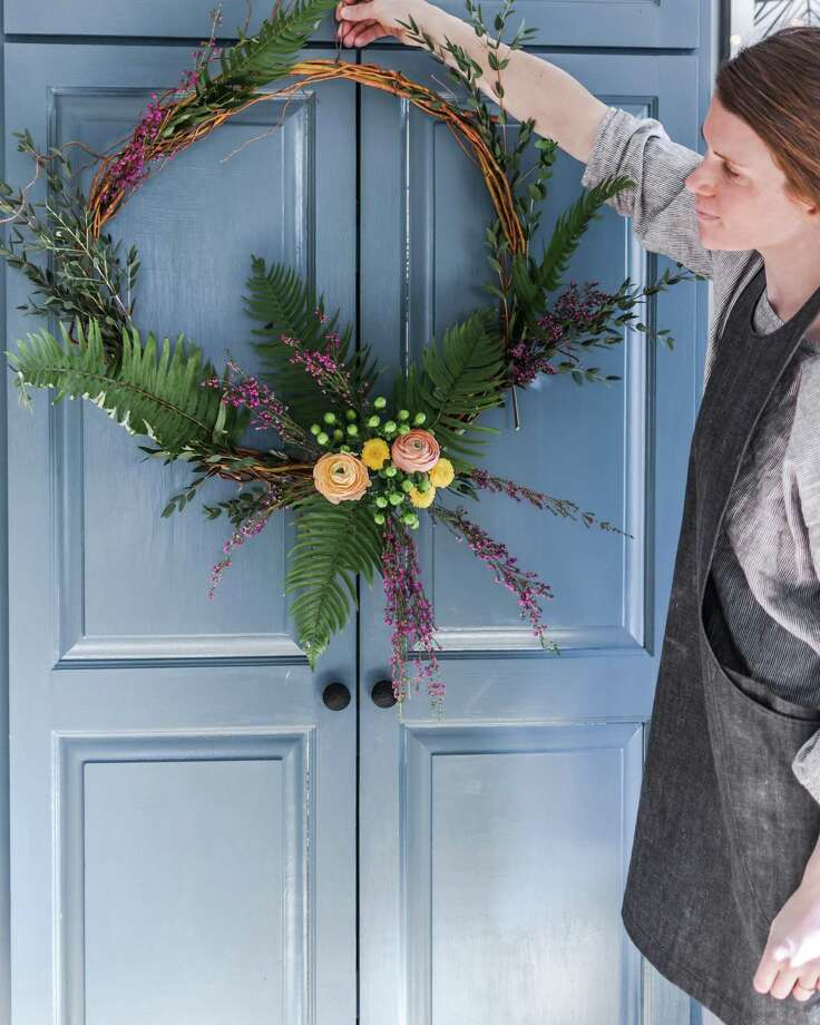Learn to make a pretty springtime wreath April 7 at The Smithy in New Preston. Photo: Contributed Photo