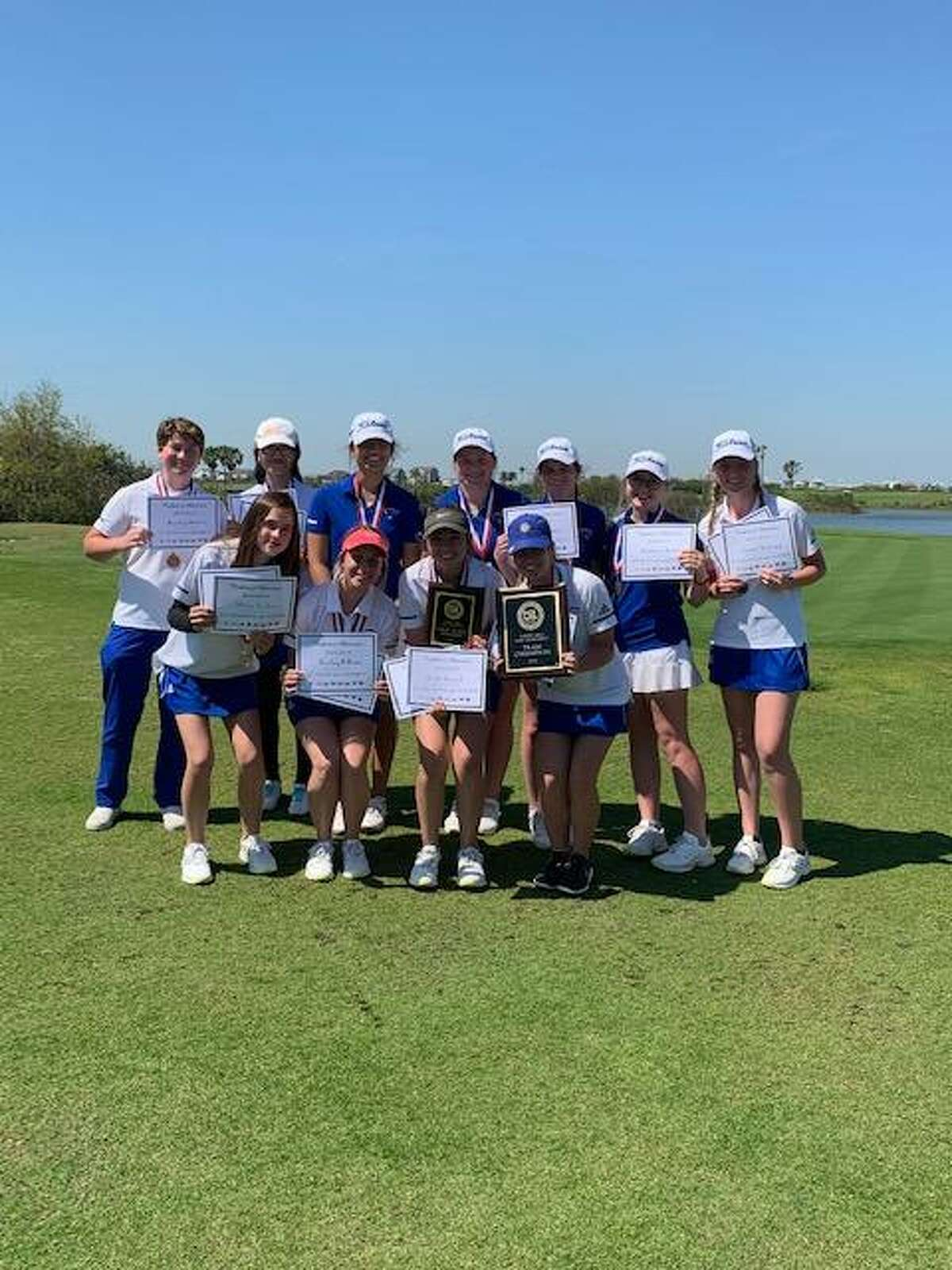 The Friendswood girls' golf team rolled to the District 22-5A championship, winning by 154 strokes over second-place Crosby.