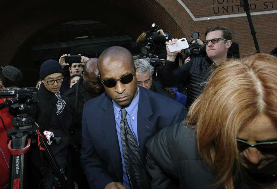 Rudy Meredith, former Yale women's soccer coach, departs federal court in Boston on Thursday, March 28, 2019, to face charges in a nationwide college admissions bribery scandal. (AP Photo/Steven Senne) Photo: Steven Senne / Associated Press / Copyright 2019 The Associated Press. All rights reserved
