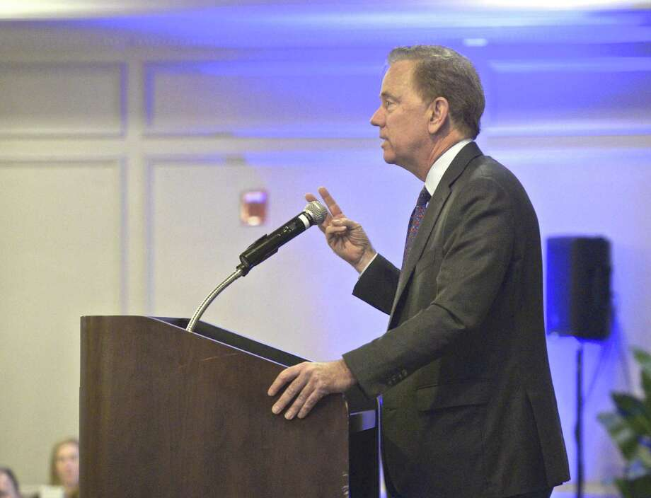 Gov. Ned Lamont will speak in Westport about Metro-North delays and power issues on March 29, 2019. Photo: H John Voorhees III / Hearst Connecticut Media / The News-Times