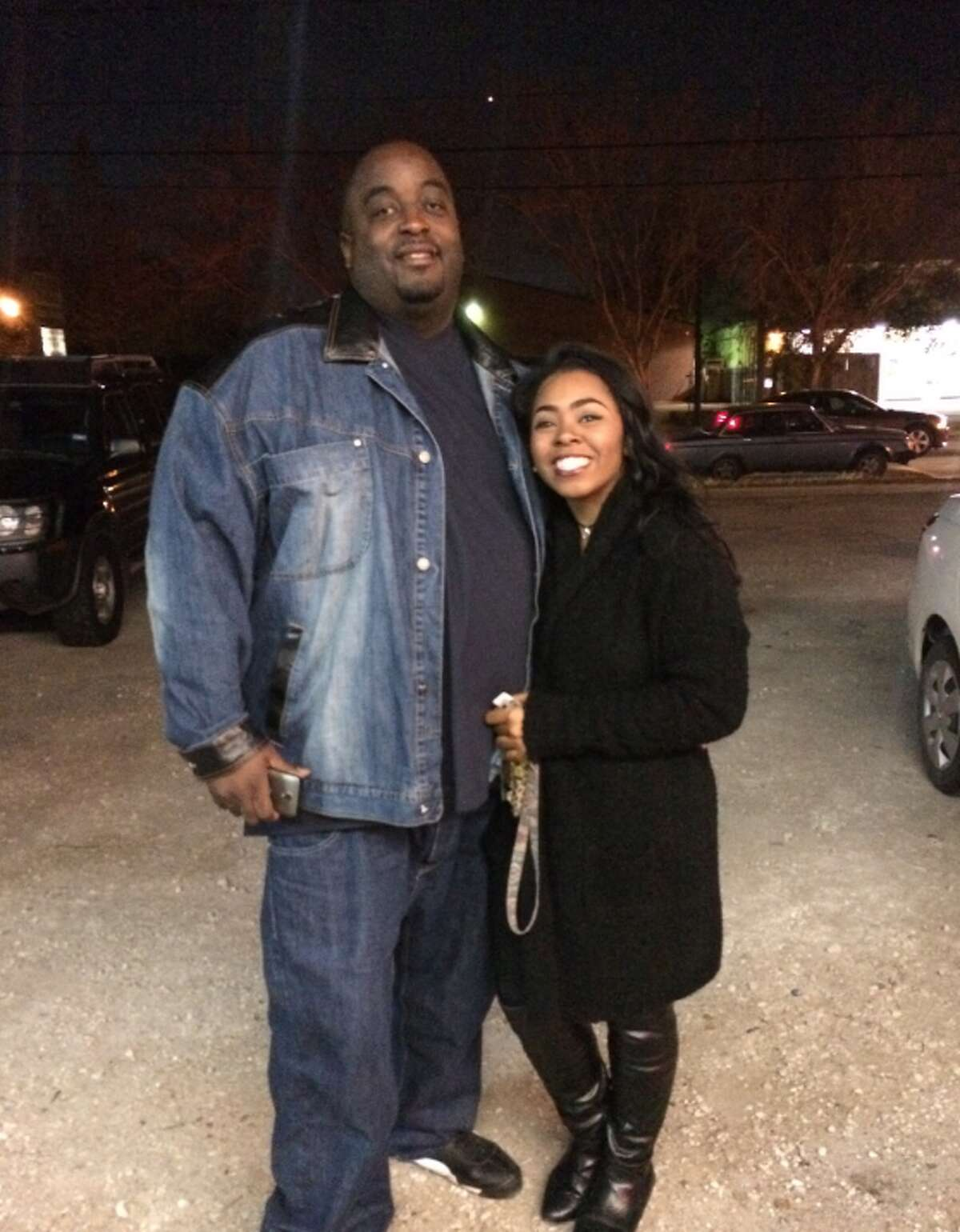 Jon Whitfield, a Houston rapper who frequently wrote for other artists, was killed Monday night at a recording studio in Houston. His daughter, Diamond Whitfield (pictured), described him as a loving and supportive father. She doesn't know why someone would fatally shoot him multiple times during an apparent robbery.