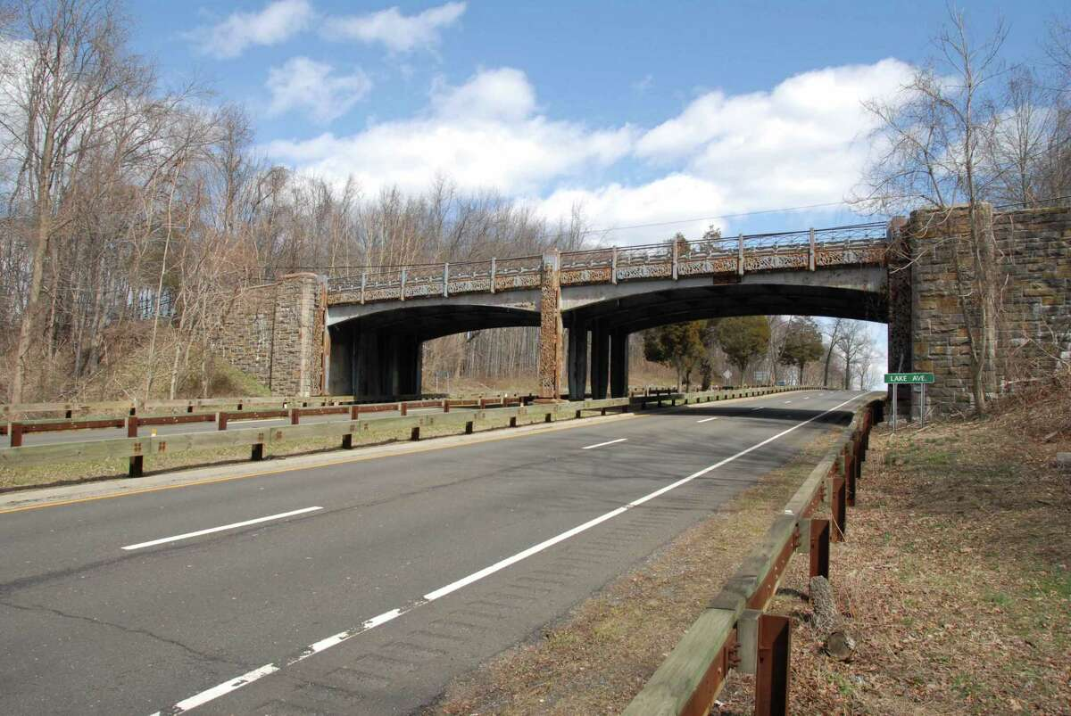The Lake Avenue bridge over the Merritt Parkway was replaced with a new span and updated.