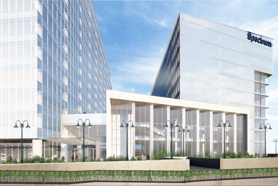 Charter Communications has revamped the design of the new headquarters buildings it hopes to add to the 15-story tower now rising in Stamford's South End. Photo: Contributed Photo / Contributed Photo / Stamford Advocate  contributed