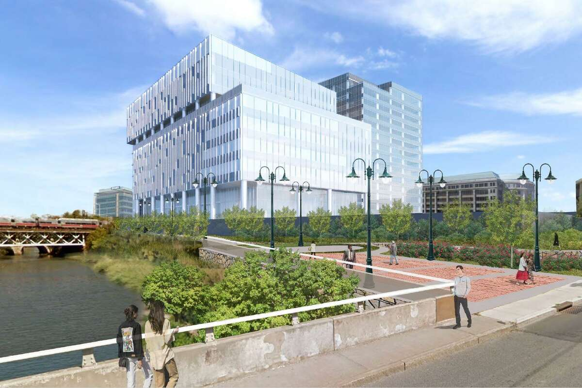 Charter Communications has revamped the design of the new headquarters buildings it hopes to add to the 15-story tower now rising in Stamford's South End.