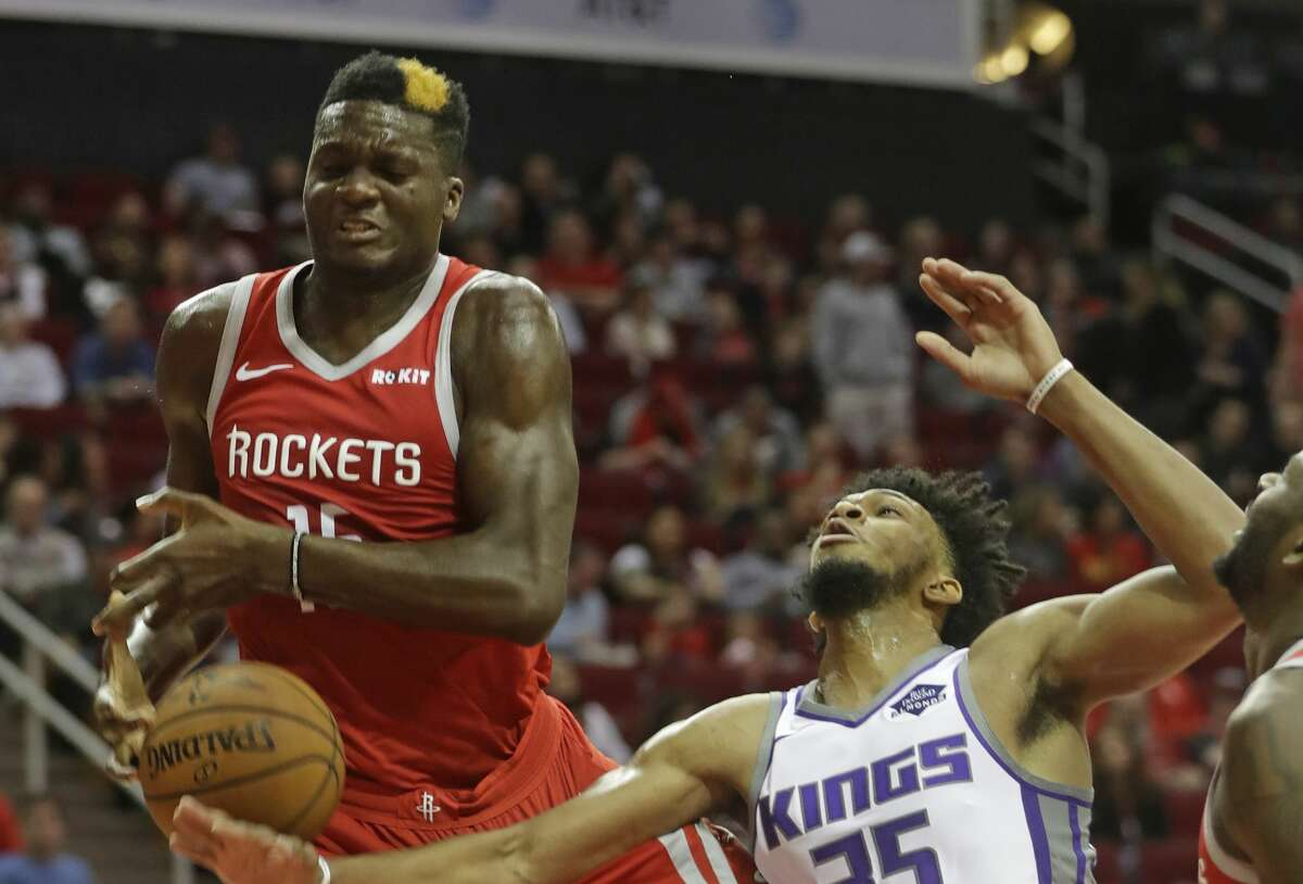 PHOTOS: 2018-19 Rockets game-by-game Houston Rockets Clint Capela and Sacramento Kings Marvin Bagley III tangle for a rebound during the first half of game at Toyota Center Saturday, Nov. 17, 2018, in Houston. >>>See how the Rockets have fared in each game this season ...
