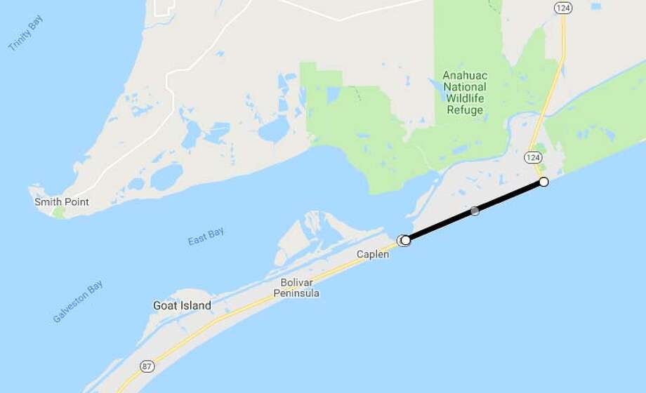 Area: Galveston County Project title: SH87Project limits: Rollover pass to SH 124  Cost estimate: $20.9 million Estimated completion date: October 2019 Description:Rollover pass to SH 124 Photo: Google Maps