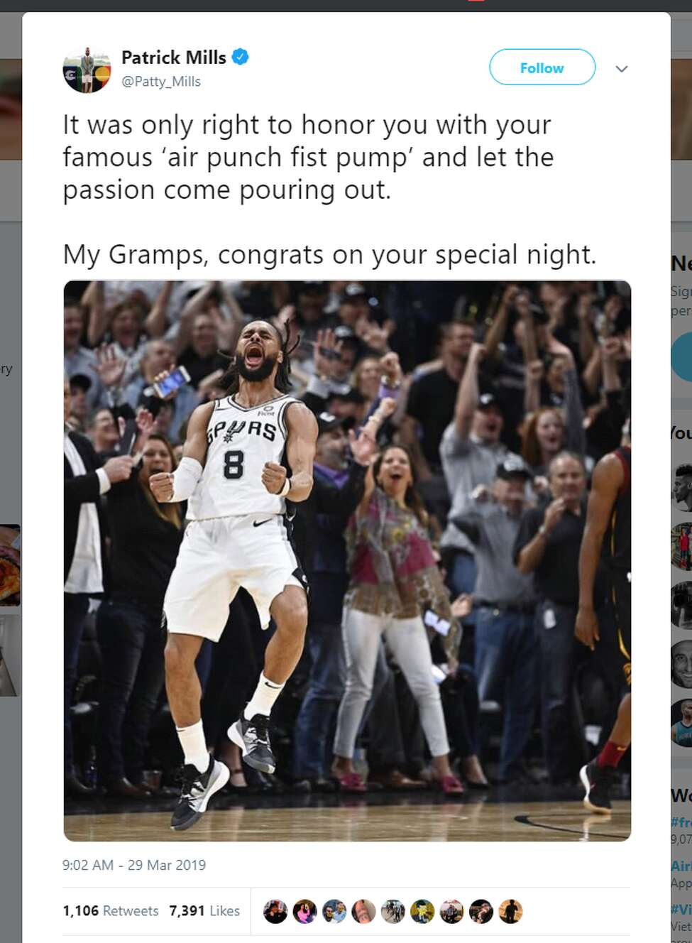 It was only right to honor you with your famous 'air punch fist pump' and let the passion come pouring out. My Gramps, congrats on your special night.