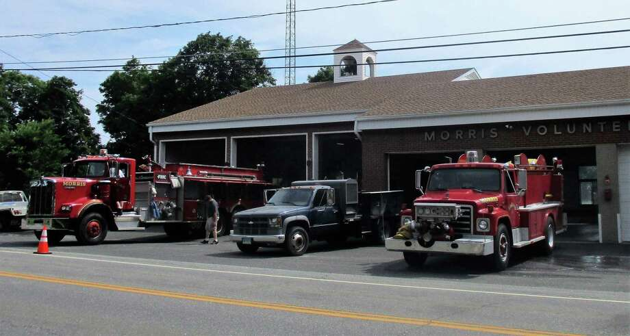 The Morris Fire Co. and Litchfield Volunteer Ambulance firehouse, 15 South St., Morris. Photo: Contributed Photo / Jo-Ann Jaacks