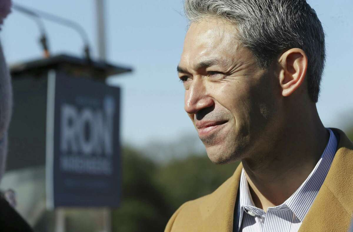 Mayor Ron Nirenberg announces his bid for re-election as city mayor with family and supporters at Alamo Stadium on Jan. 19. He deserves a second term. Early voting begins April 22.