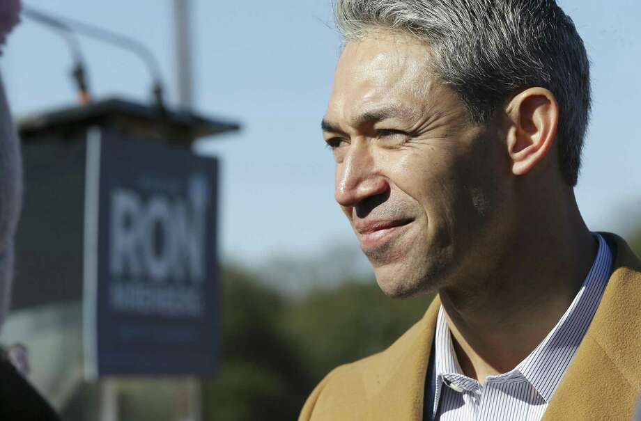 Mayor Ron Nirenberg announces his bid for re-election as city mayor with family and supporters at Alamo Stadium on Jan. 19. He deserves a second term. Early voting begins April 22. Photo: Kin Man Hui /San Antonio Express-News / ©2019 San Antonio Express-News
