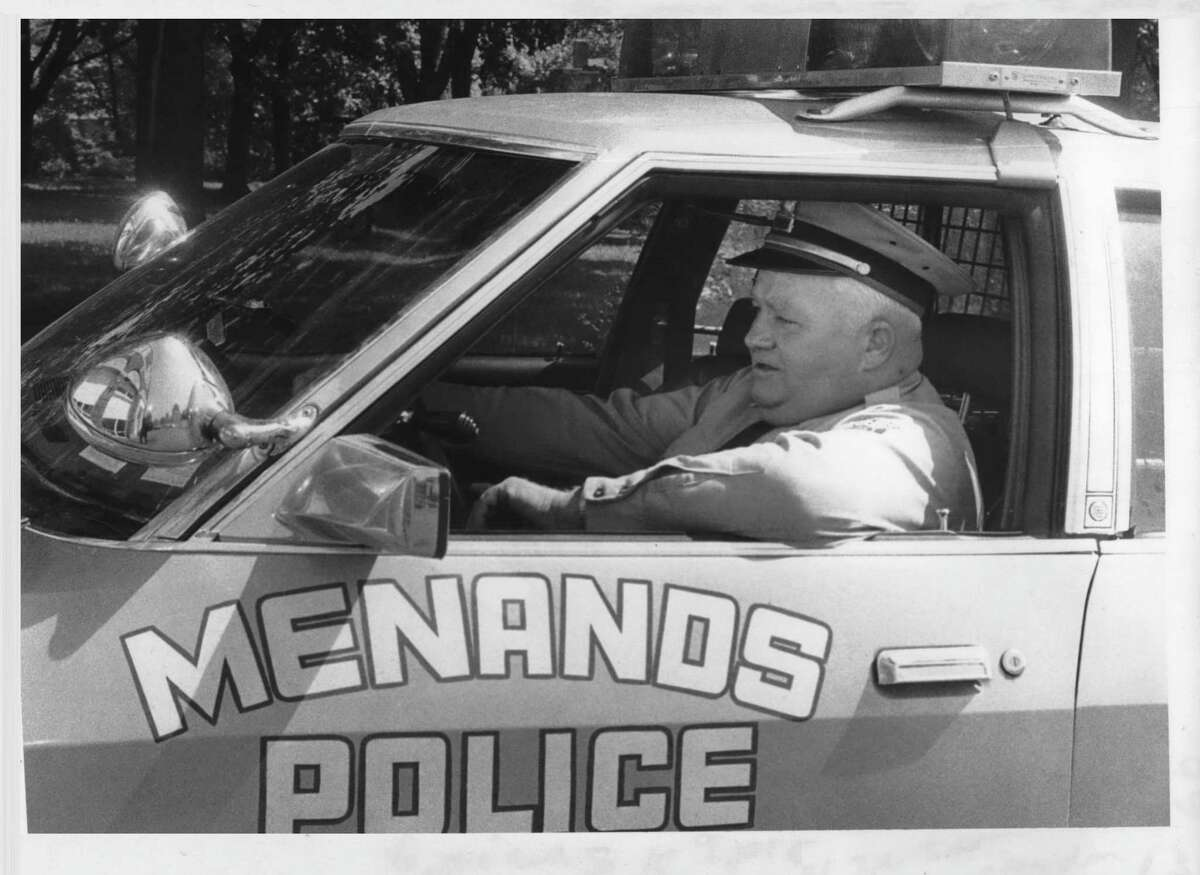 Click through the slideshow to see archival photos of Menands through the years. Menands, New York Police Chief James Claydon at wheel of one of their two police cars. May 16, 1980 (Bud Hewig/Times Union Archive)