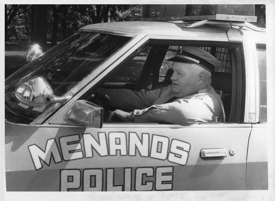 Click through the slideshow to see archival photos of Menands through the years. Menands, New York Police Chief James Claydon at wheel of one of their two police cars. May 16, 1980 (Bud Hewig/Times Union Archive) Photo: Bud Hewig, Times Union Historic Images / http://hipe.historicimages.com/images/tua/tua70563b.jpg