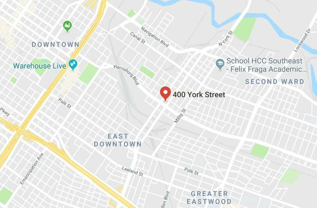 Google Maps view of the 400 block of York Street.