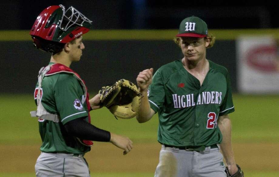 FILE PHOTO — The Woodlands pitcher Will Swope tossed six innings against Oak Ridge on Friday night. Photo: Jason Fochtman, Houston Chronicle / Staff Photographer / © 2019 Houston Chronicle