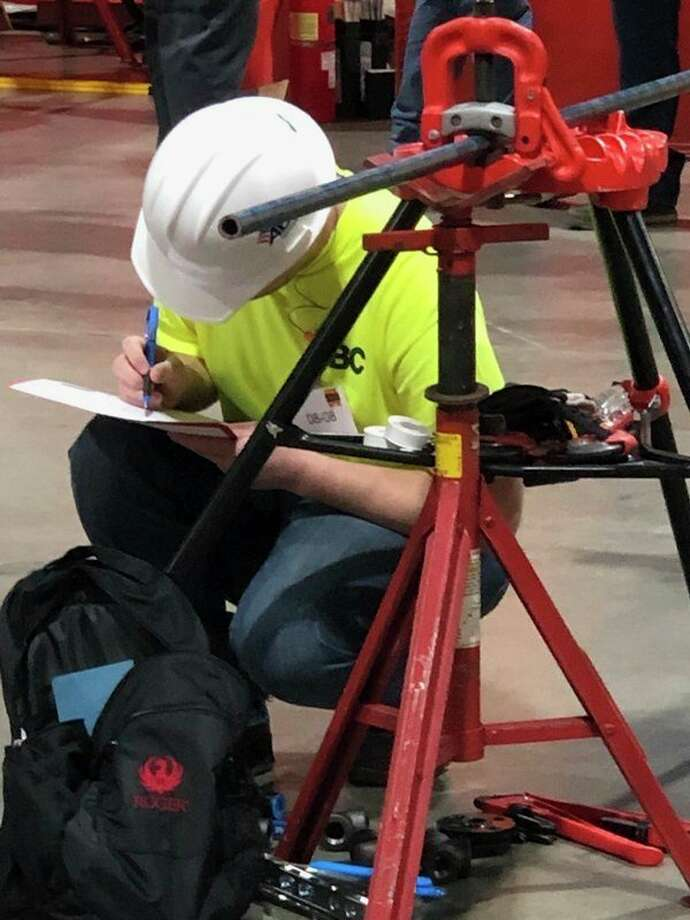 Colin Dolerepresents Three Rivers Corp. in the National Craft Championships competition on March 27, as a pipefitter.(Photo provided/Three Rivers)