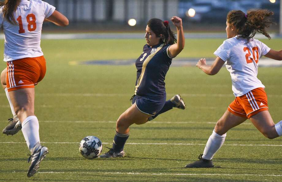 Marina Saldivar was held scoreless for the first time this postseason Friday as Alexander was blanked by La Joya Juarez-Lincoln falling 3-0 at La Joya ISD Stadium in the regional quarterfinals. Photo: Danny Zaragoza /Laredo Morning Times File / Laredo Morning Times