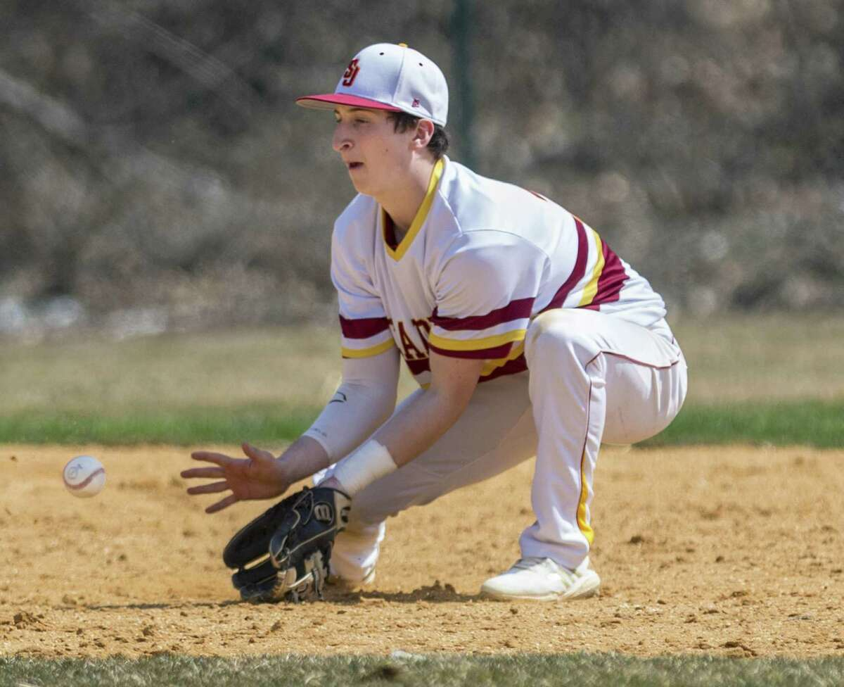 St. Joseph High School against Bethel High School during a baseball game played at St. Joseph High School, Trumbull, CT. Saturday, March 30, 2019.