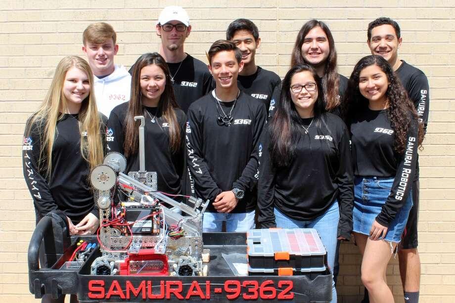Group shot of the student members of Lee's Samurai Robotics team, March 26, 2019. Provided Photo Photo: James Durbin / Midland Reporter-Telegram