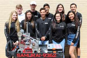 Group shot of the student members of Lee's Samurai Robotics team, March 26, 2019. Provided Photo