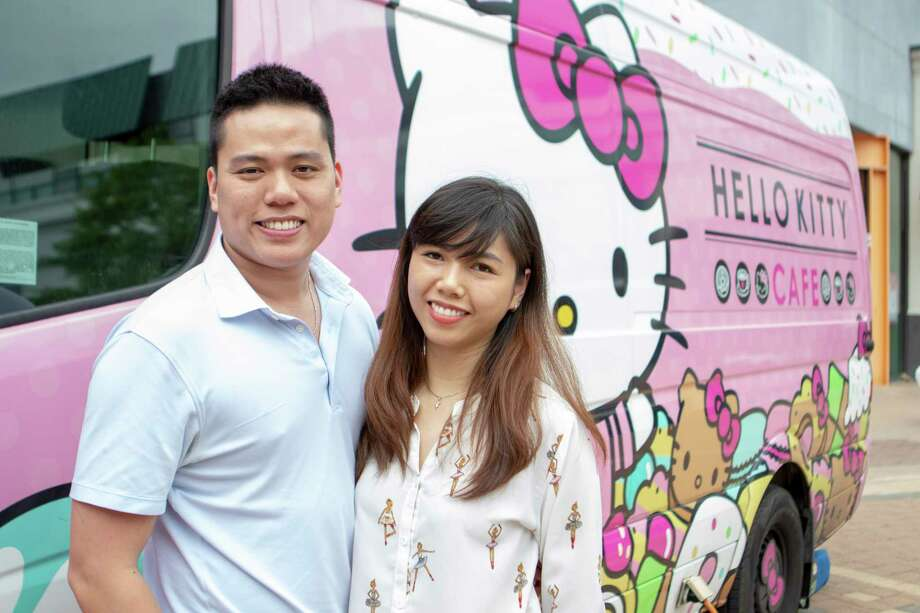 The Hello Kitty Cafe Truck visited Saturday, March 30, 2019 at south entrance of The Woodlands Mall in The Woodlands. Photo: Cody Bahn, Staff Photographer / © 2018 Houston Chronicle