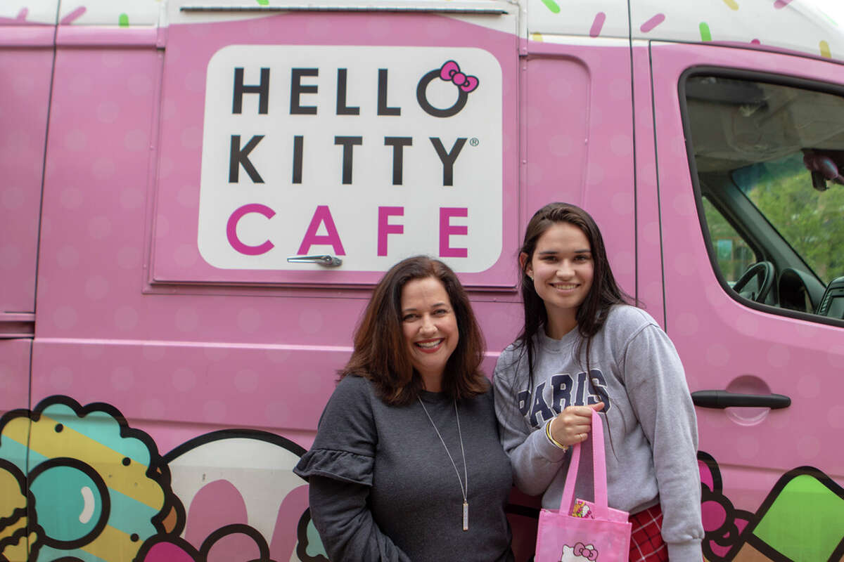 The Hello Kitty Cafe Truck visited Saturday, March 30, 2019 at south entrance of The Woodlands Mall in The Woodlands.
