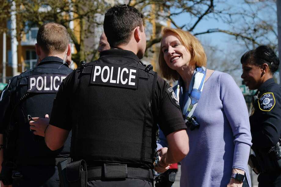 "Seattle Mayor Jenny Durkan:  She's reducing arterial speed limits to 25 mph., doubling use of red light cameras, more cops in school zones, and  ""pedestrian interval safety enhancements"" at traffic lights. Photo: Genna Martin / seattlepi.com"