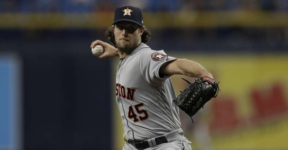 PHOTOS: Astros game-by-game Houston Astros starting pitcher Gerrit Cole during the first inning of a baseball game against the Tampa Bay Rays Friday, March 29, 2019, in St. Petersburg, Fla. (AP Photo/Chris O'Meara) Browse through the photos to see how the Astros have done so far this season. Photo: Chris O'Meara/Associated Press