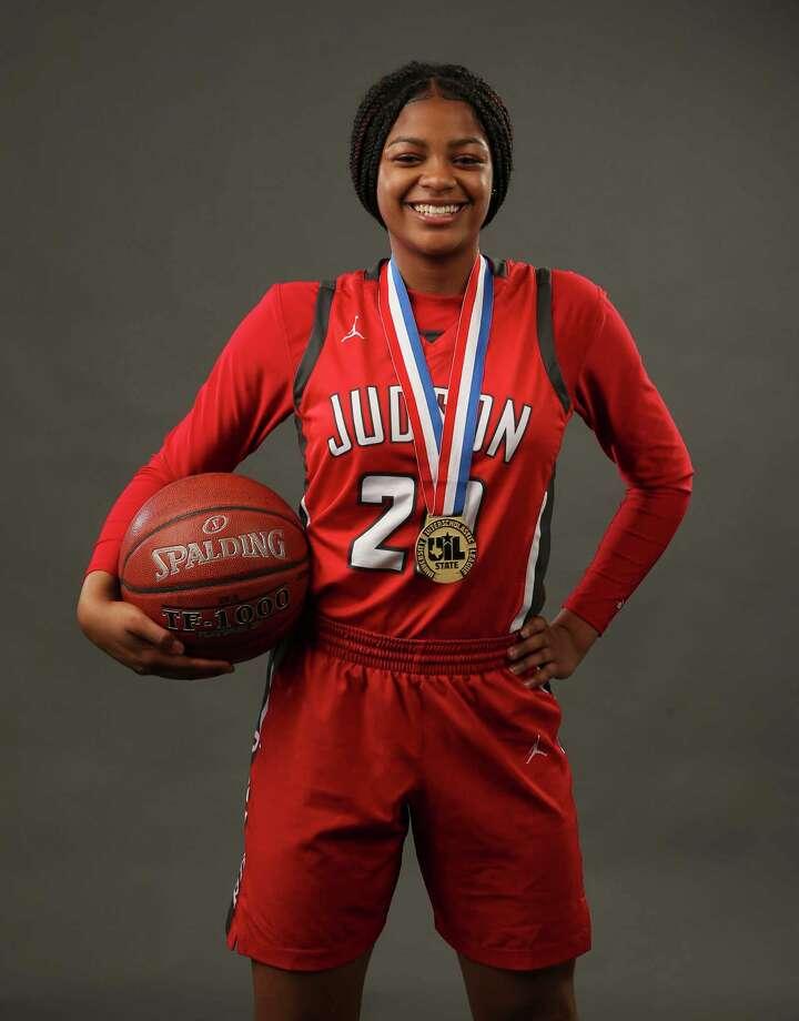 Judson's Kierra Sanderlin for the Express-News' 2018-19 All-Area girls basketball team. (Kin Man Hui/San Antonio Express-News) Photo: Kin Man Hui, Staff / Staff Photographer / ©2019 San Antonio Express-News