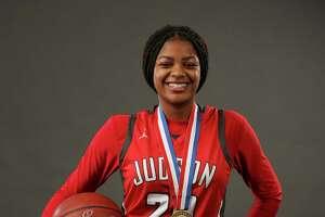 Judson's Kierra Sanderlin for the Express-News' 2018-19 All-Area girls basketball team. (Kin Man Hui/San Antonio Express-News)