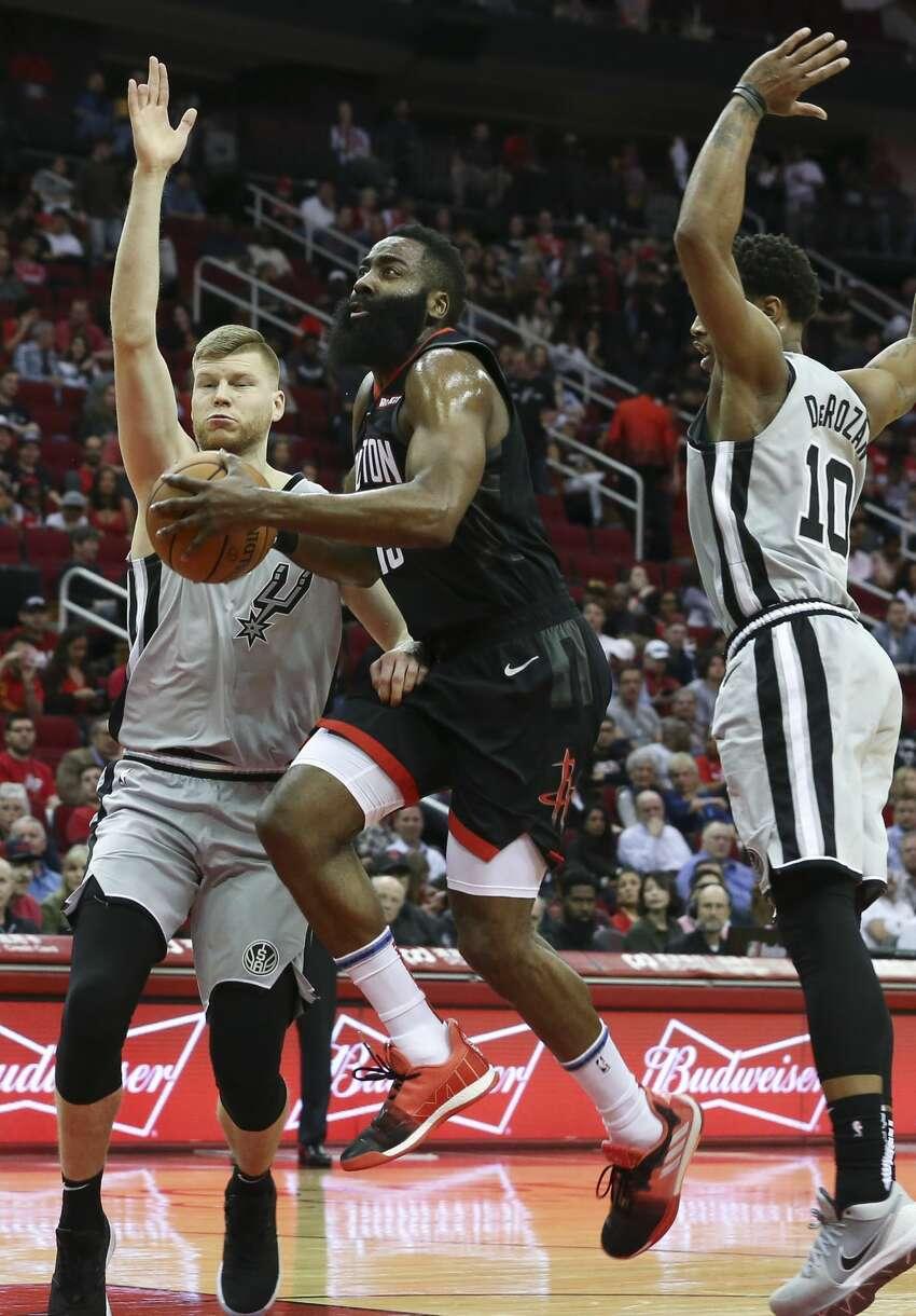 If San Antonio beats Dallas, Houston beats Oklahoma City and Denver beats sweeps Utah and Minnesota:(6) Spurs vs. (3) Rockets