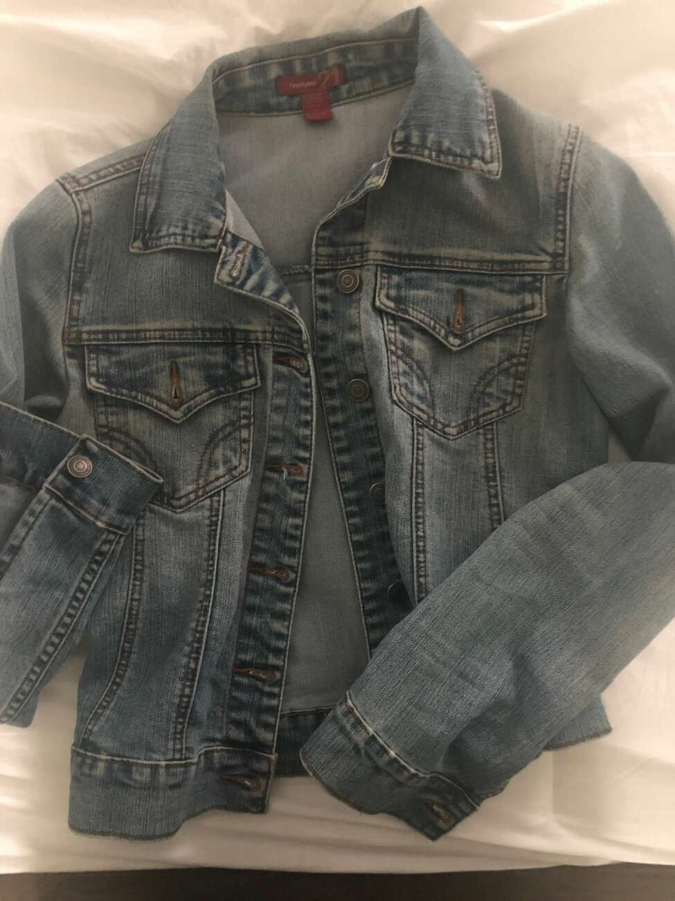2. I still wear a denim jacket I bought 15 years ago – from Forever 21.