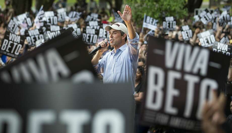 "Democratic presidential hopeful Beto O'Rourke speaks to a crowd of supporters on the campus of Texas Southern University on Saturday, March 30, 2019, in Houston. The stop in Houston is part of a 3-city ""official"" campaign kickoff as he runs for president. Photo: Brett Coomer/Staff Photographer"