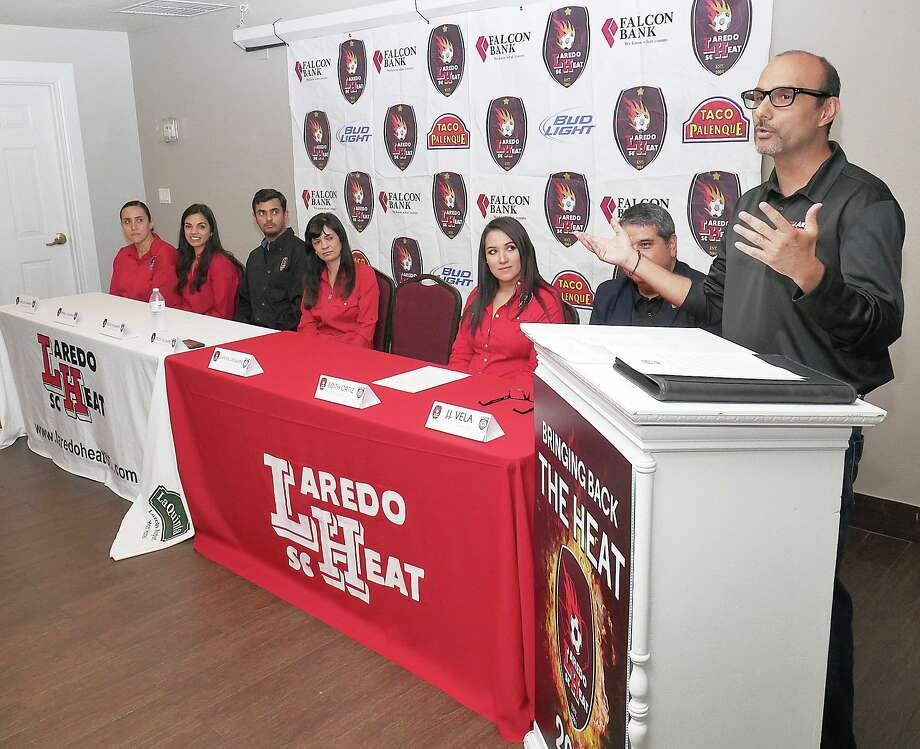 Laredo Heat owner Shashi Vaswani, right, believes the popularity of soccer in the United States would benefit from implementing a system of promotion and relegation. A 2018 poll had soccer ranked No. 4 in popularity behind football, basketball and baseball. Photo: Cuate Santos / Laredo Morning Times File / Laredo Morning Times