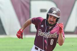 Anthony Handel had two of TAMIU's eight hits Friday as the Dustdevils lost 14-4 in eight innings at West Texas A&M.