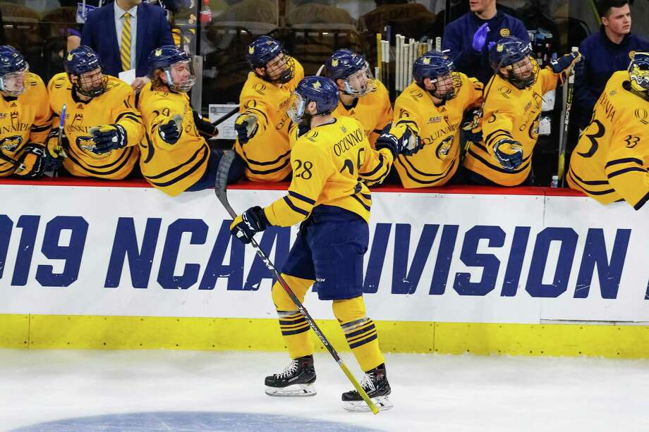 The Quinnipiac men's hockey team advanced to the Elite Eight with a win over Arizona State Saturday night in Allentown, Penn. Photo: Rob Rasmussen /Quinnipiac / © Rob Rasmussen