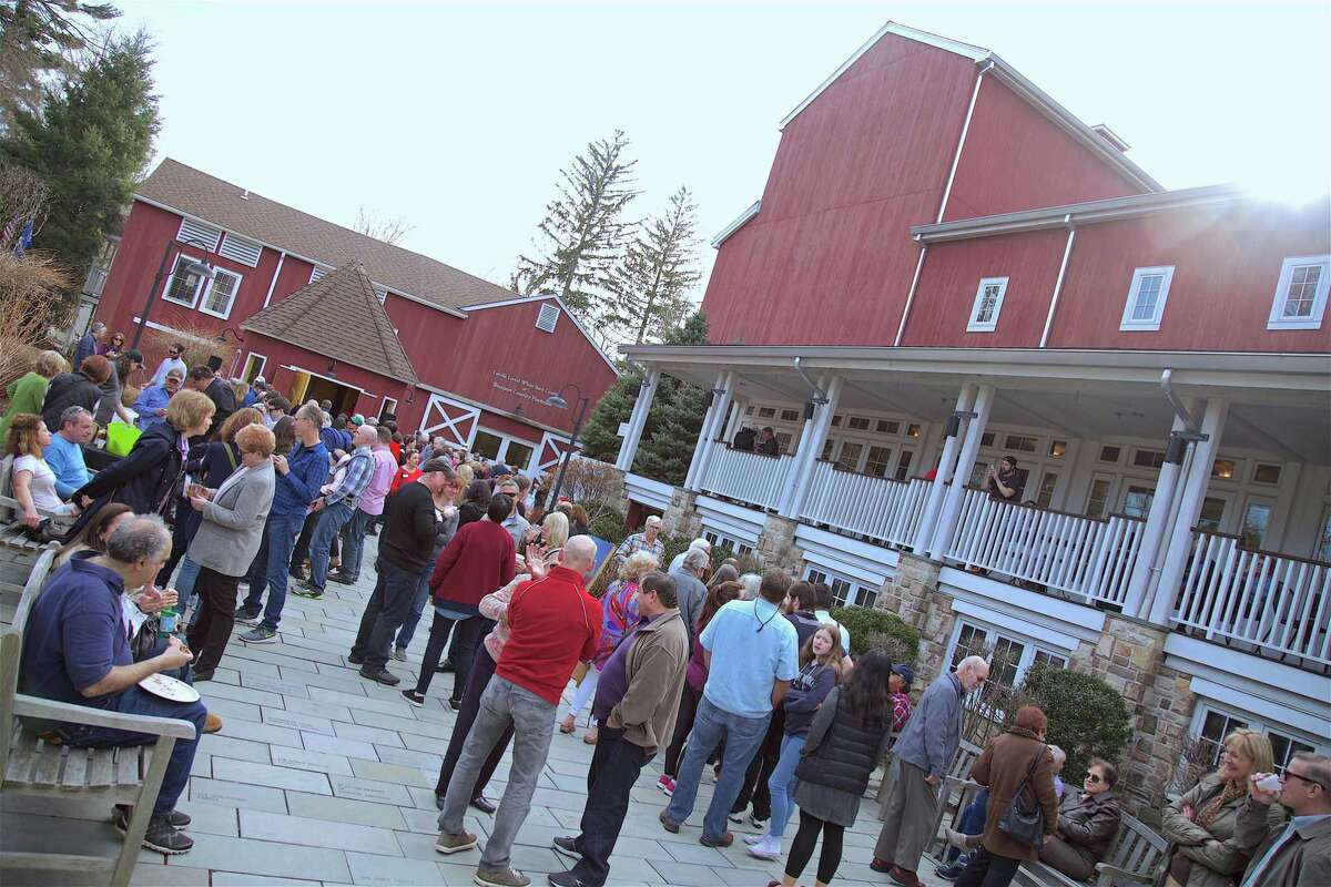 A big crowd turned out at the 2019 Season Kickoff Event for the Westport Country Playhouse on Saturday, March 30, 2019, in Westport, Conn.