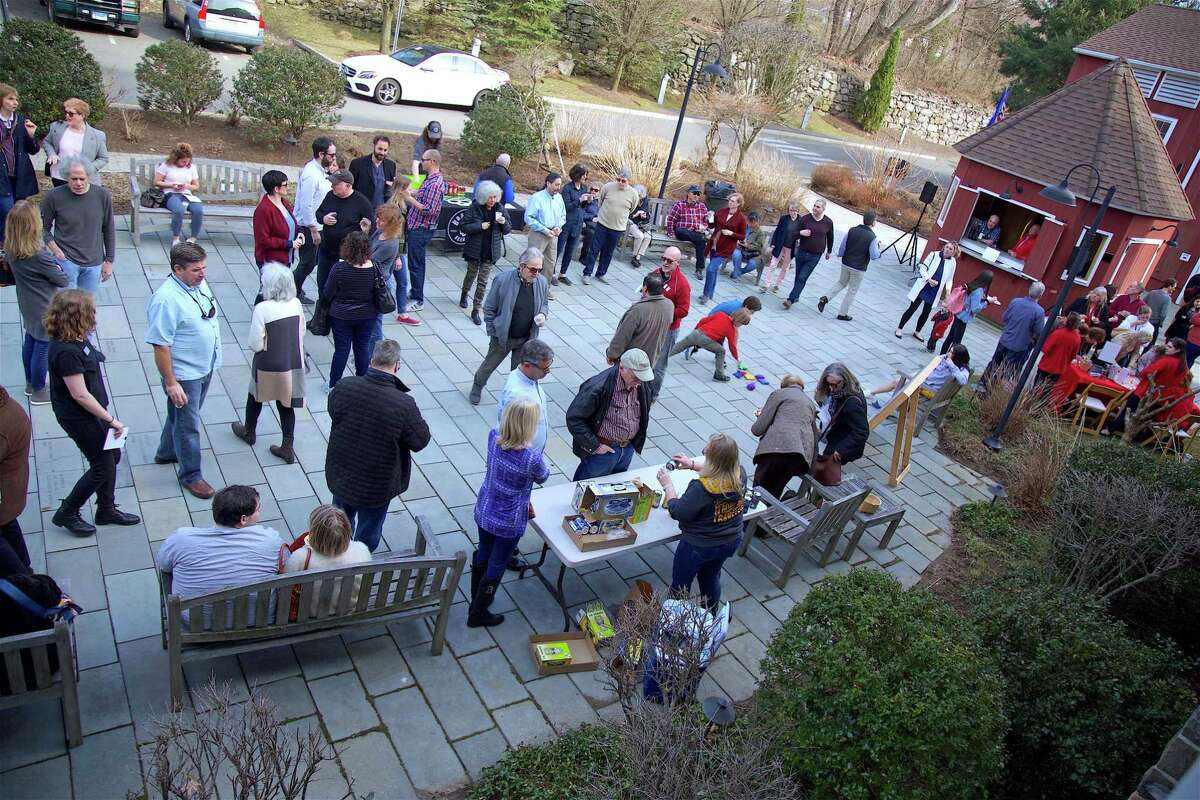 The fine spring day brought many people out to the 2019 Season Kickoff Event for the Westport Country Playhouse on Saturday, March 30, 2019, in Westport, Conn.