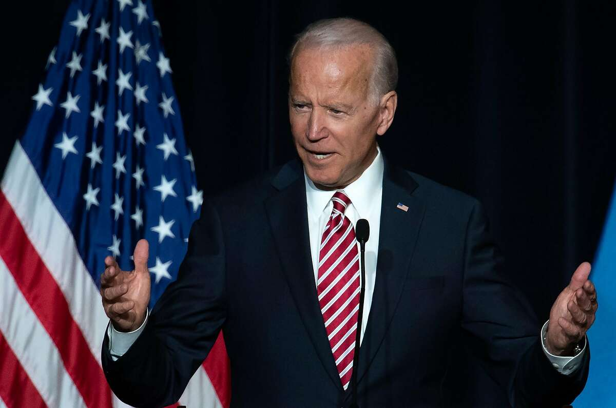 Former US Vice President Joe Biden speaks during the First State Democratic Dinner in Dover, Delaware, on March 16, 2019. (Photo by SAUL LOEB / AFP)SAUL LOEB/AFP/Getty Images