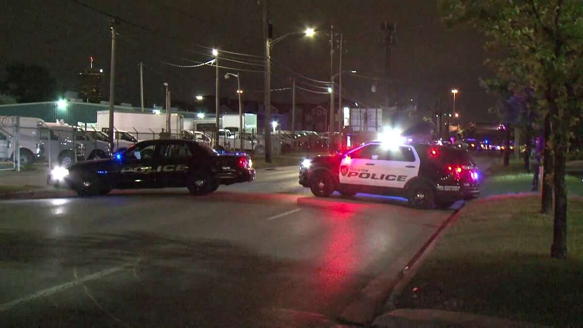 Houston police investigate a hit-and-run crash that left two people dead on Saturday, March 30, 2019.