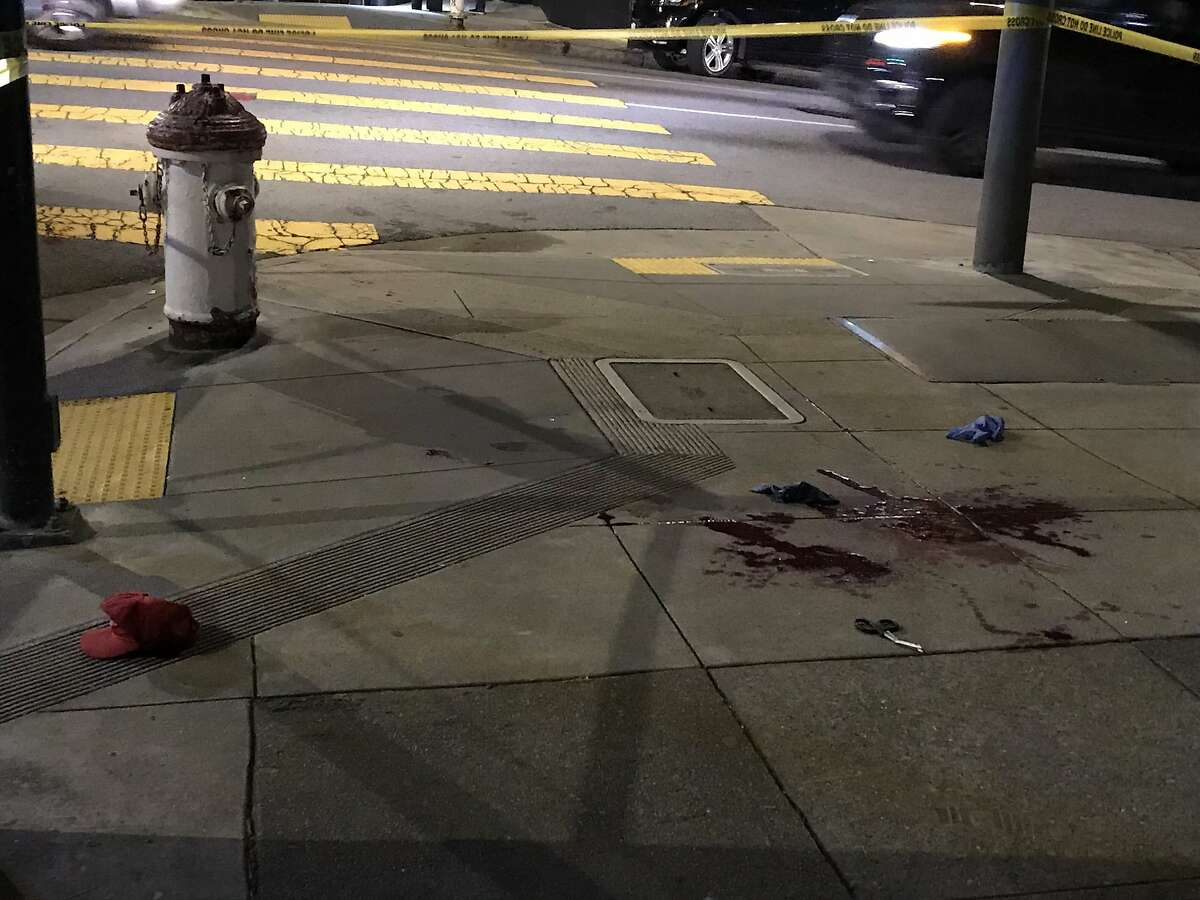 A man was slashed with a sword Friday night outside the Church of 8 Wheels in San Francisco's Western Addition neighborhood, police said.