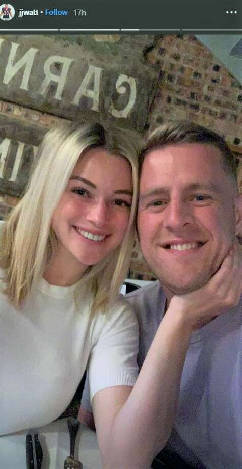 J.J. Watt and Kealia Ohai enjoy date night at B&B Butchers & Restaurant. Photo: Instagram