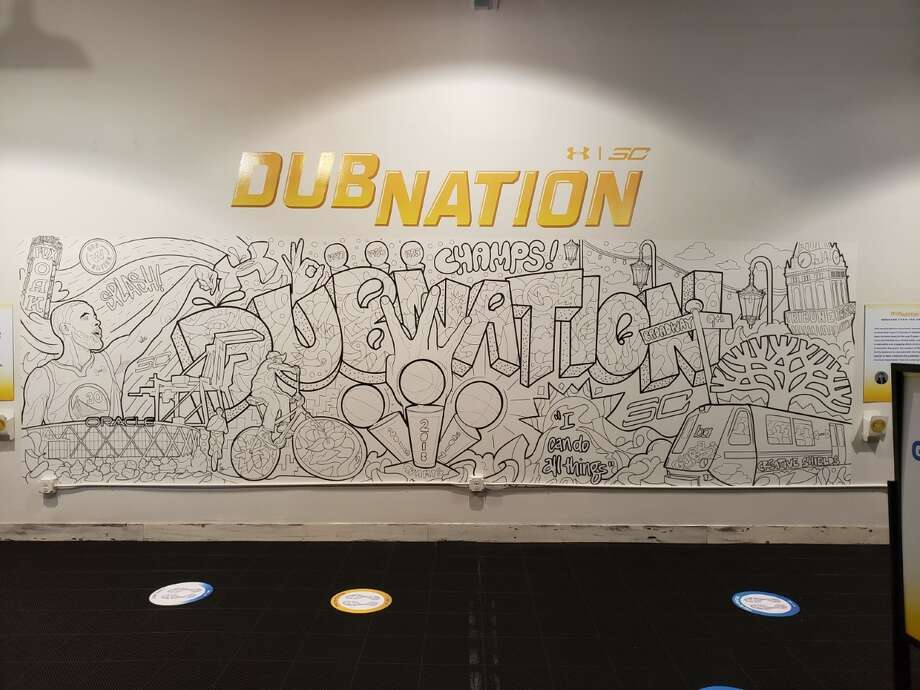 941976cab030 The DubNation mural is interactive in that anyone visiting the SC30 x  Oakland pop-up